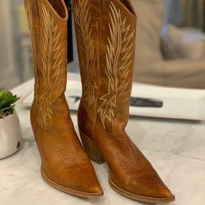 "Penny ❤️ Kenny ' Pilgrim Cowboy Boots 3"" Heel"